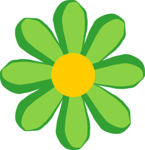 Green flower clipart free png.