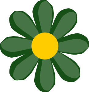 Green Flower Clip Art at Clker.com.