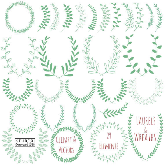 Laurel Wreath Clipart and Vectors.