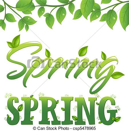 Clipart Vector of Spring.