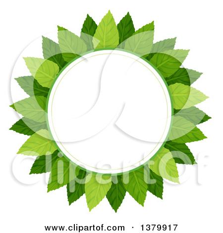 Cartoon of a Green Leaf Design Element.