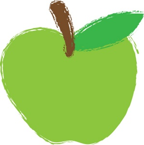 Green Apple Clipart Image.