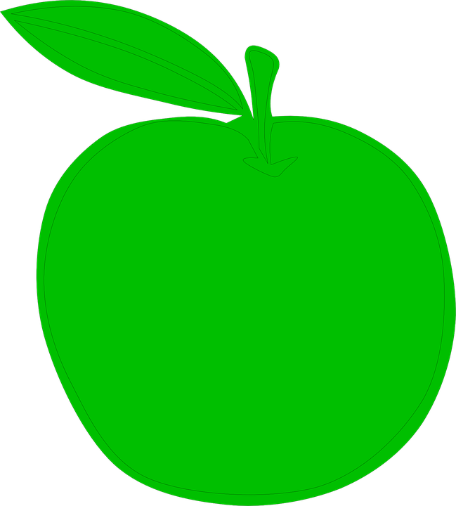 Free vector graphic: Apple, Green, Food, Fruit, Plant.