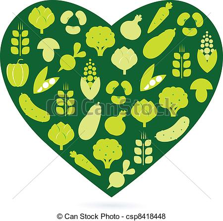Clipart Green Food Die.