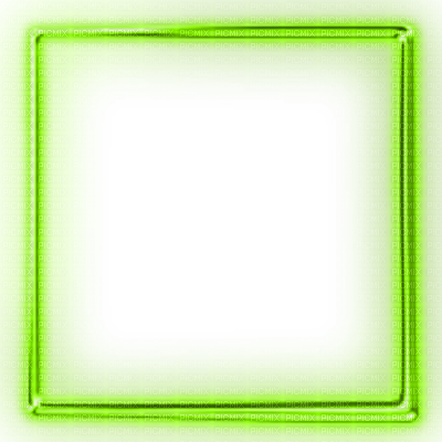 Green Frame Transparent Image.