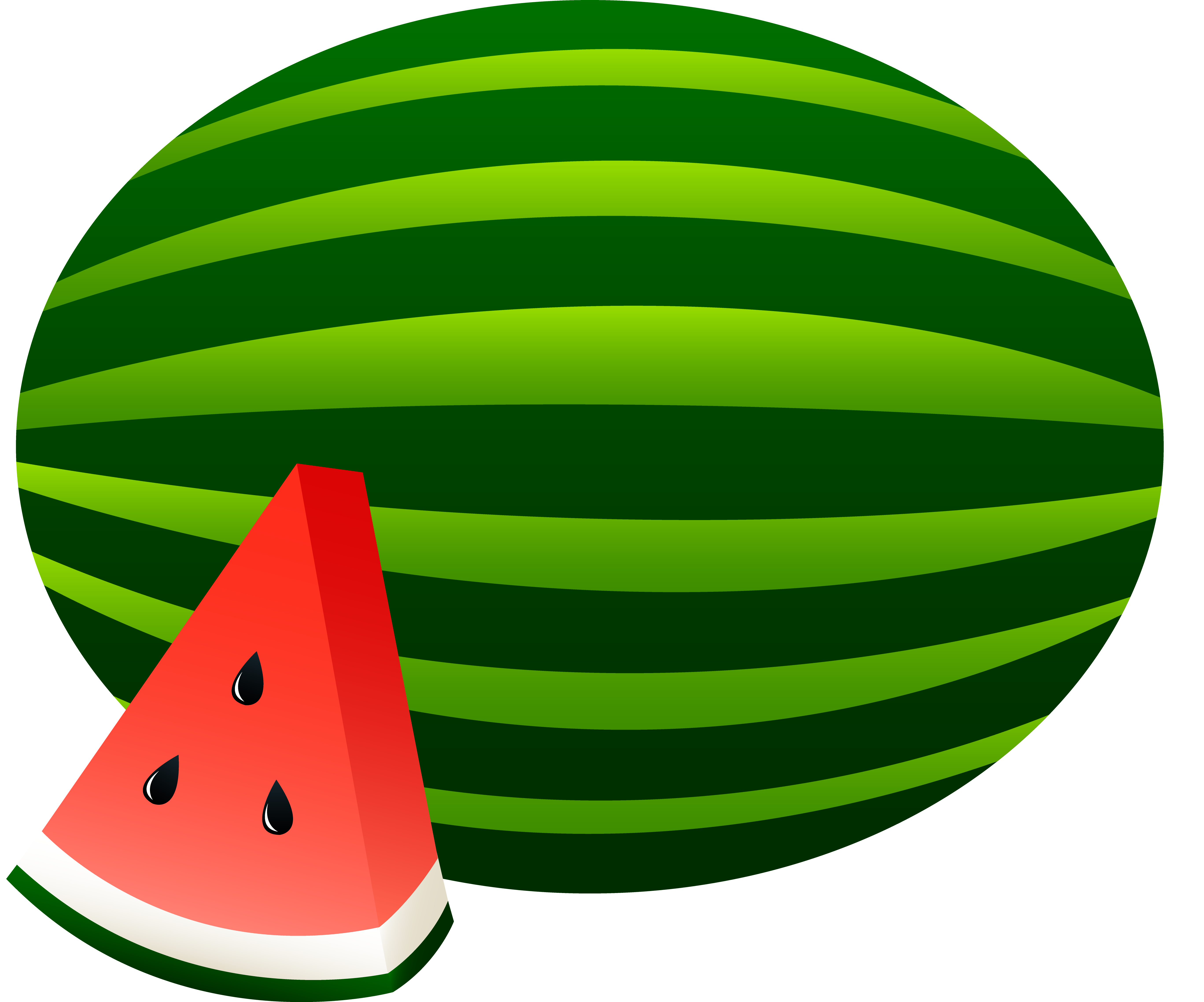 Watermelon fruit clipart.