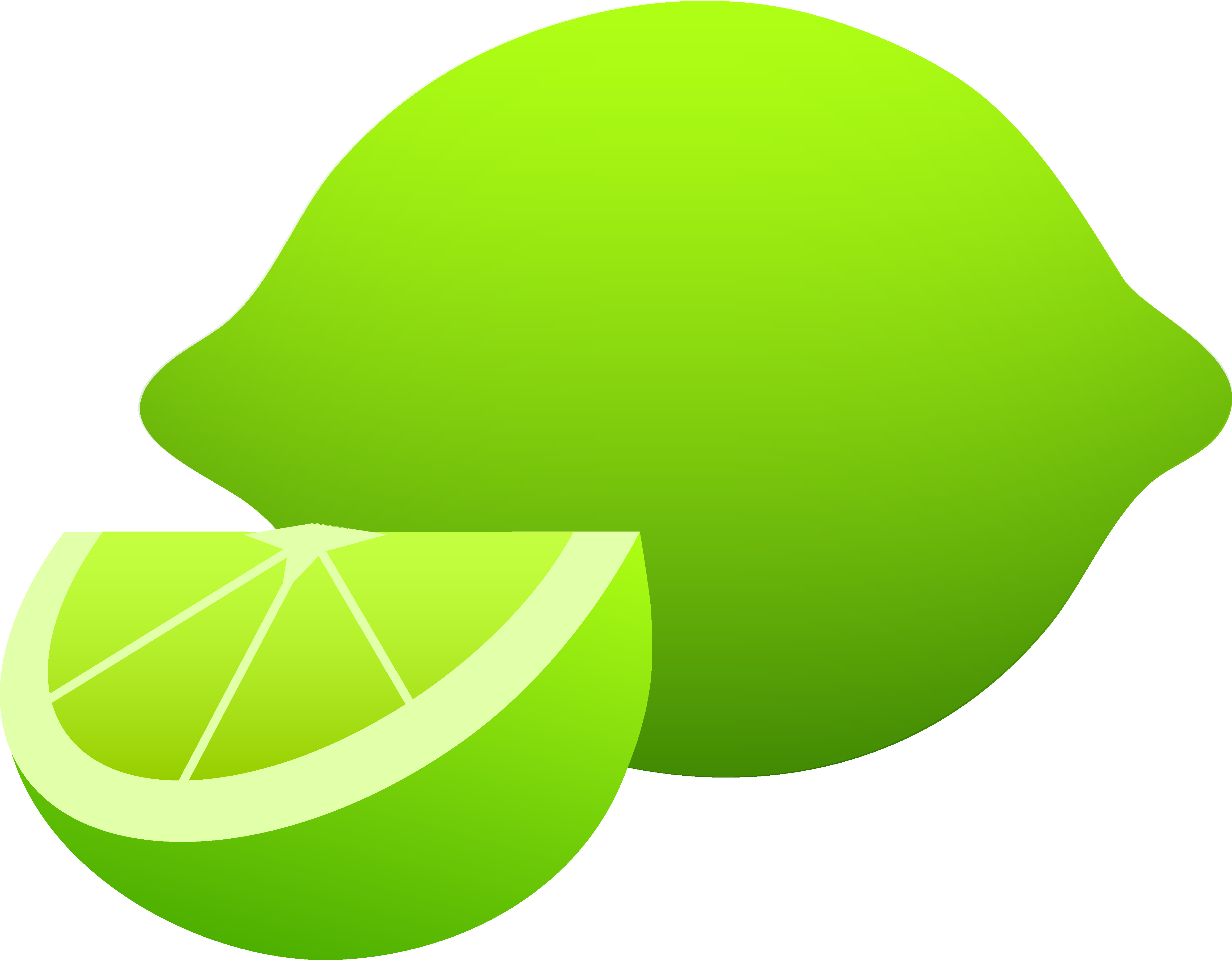 Whole Lime and Slice.
