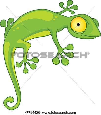 Clip Art of Fast lizards in tribal style k9916897.