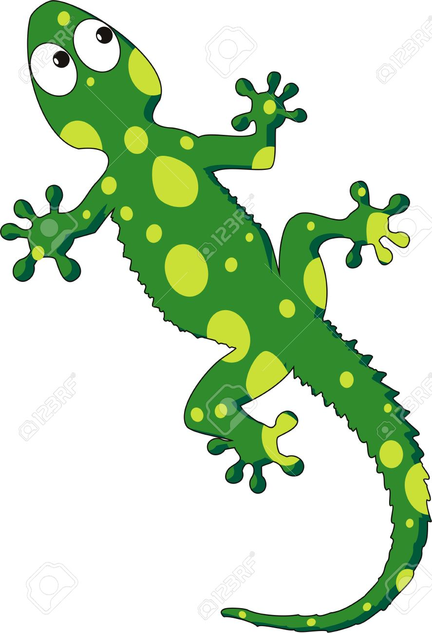 Illustration Of A Green Gecko Royalty Free Cliparts, Vectors, And.