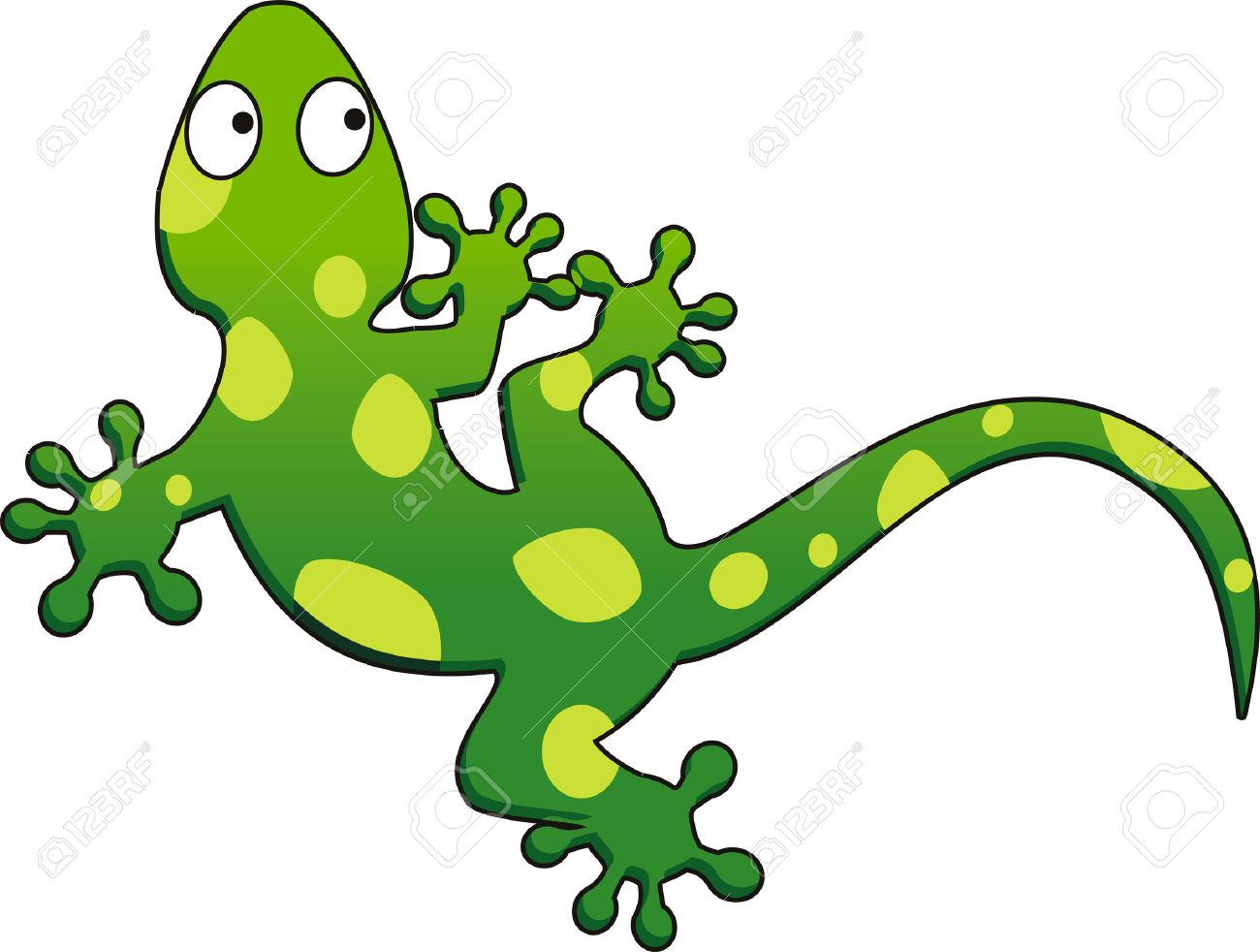 Green gecko clipart.