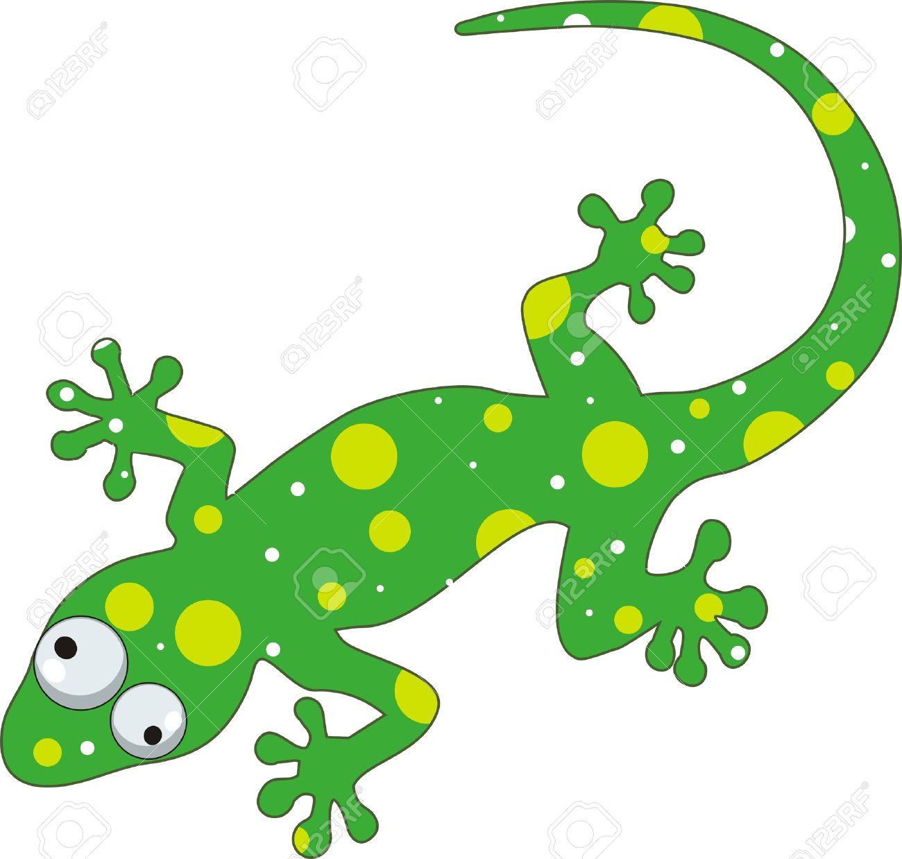 Green Gecko Cartoon.