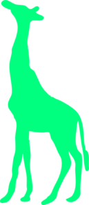 Gallery For > Green Giraffe Clipart.