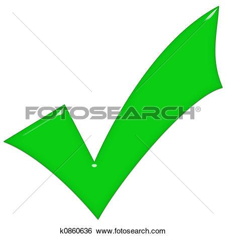 Stock Illustration of 3D Green Glass Tick k0860636.