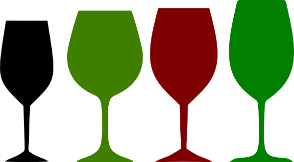Red And Green Wine Glasses Clip Art at Clker.com.