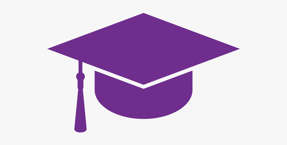 Graduation Clipart Purple.
