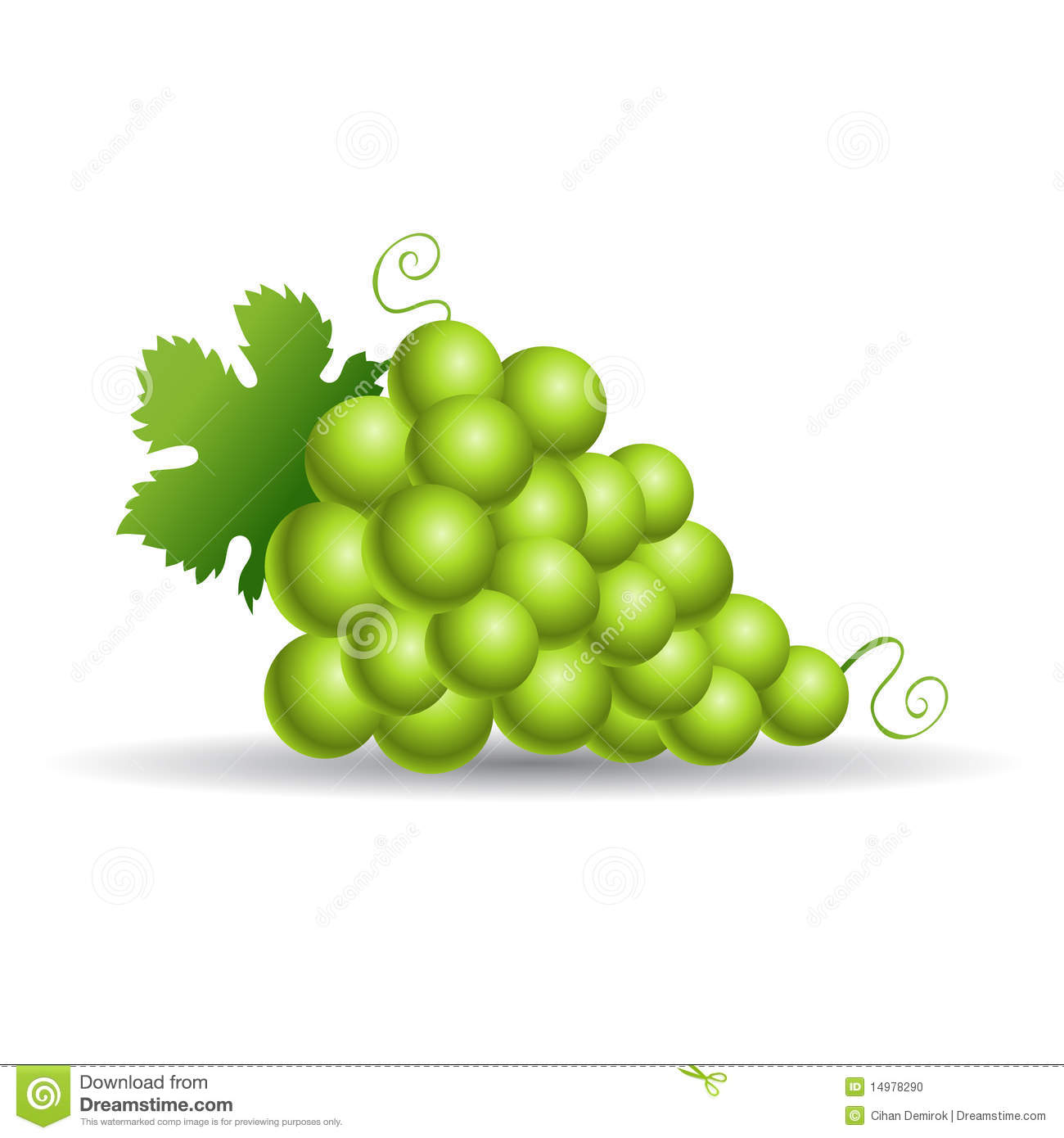 Green grapes clipart - Clipground
