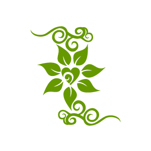 Green clipart with white flowers.