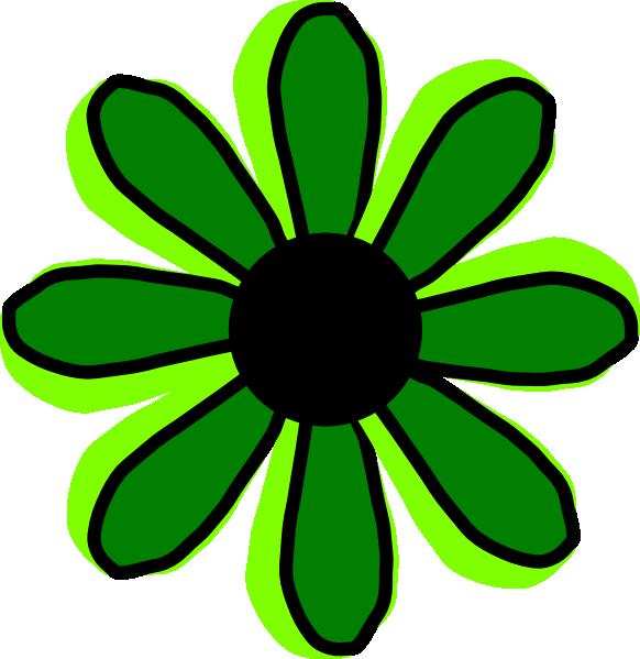 Flower clipart green.