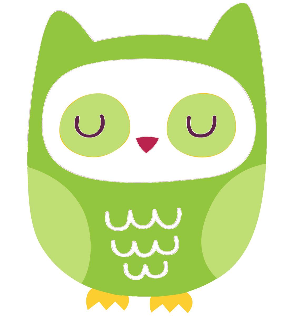 Owls clipart green.
