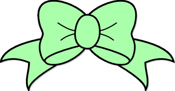 Hair Bow Green Clipart.