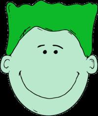 Green Hair Clipart.