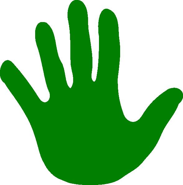 Hand Green Left Clip Art at Clker.com.