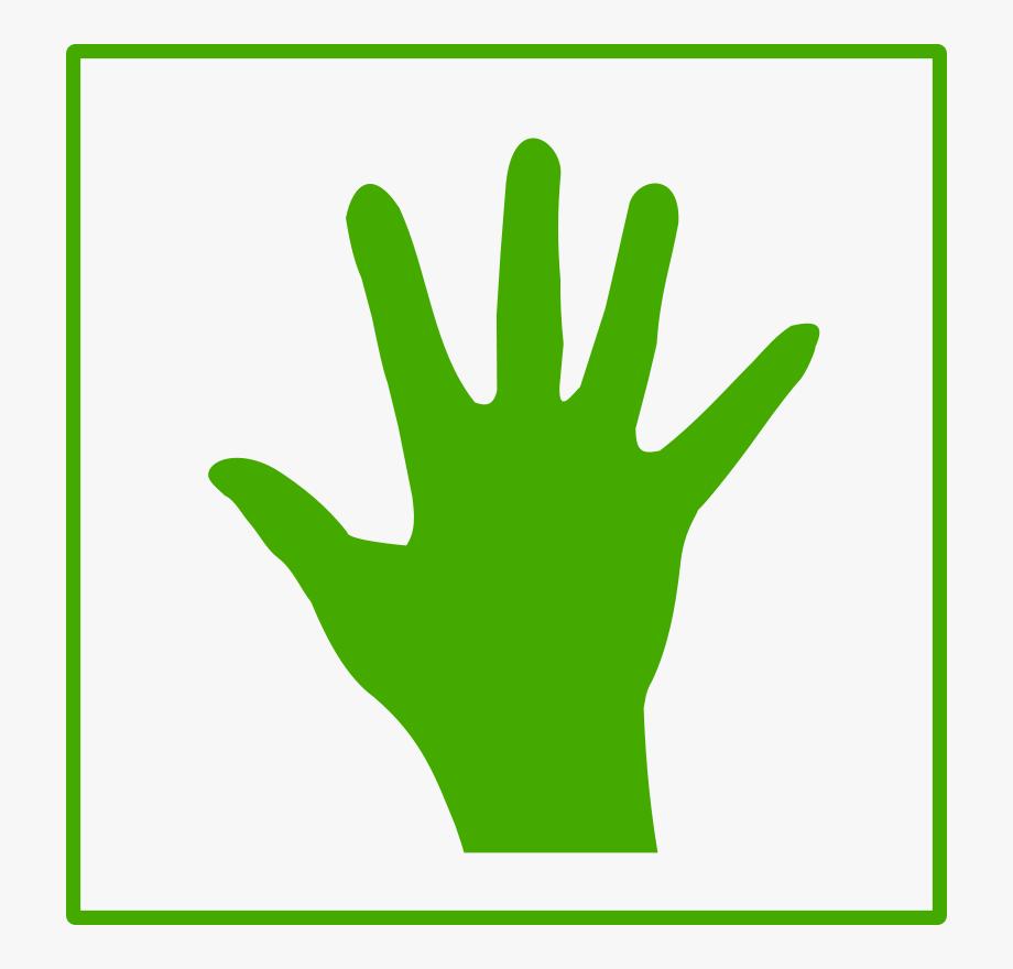 Green Hand Clipart.