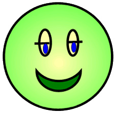 green smiley happy face lge.