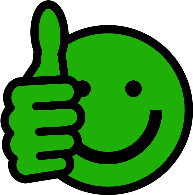 Green Thumbs Up Smiley Face Clip Art Clipart.
