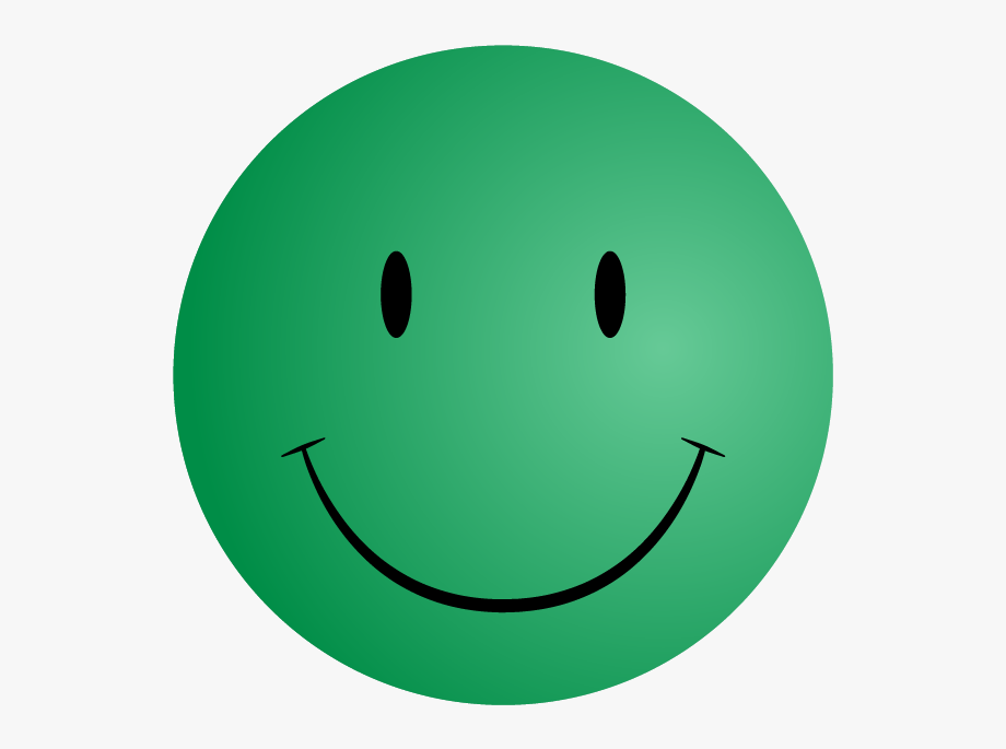 Green Happy Face.