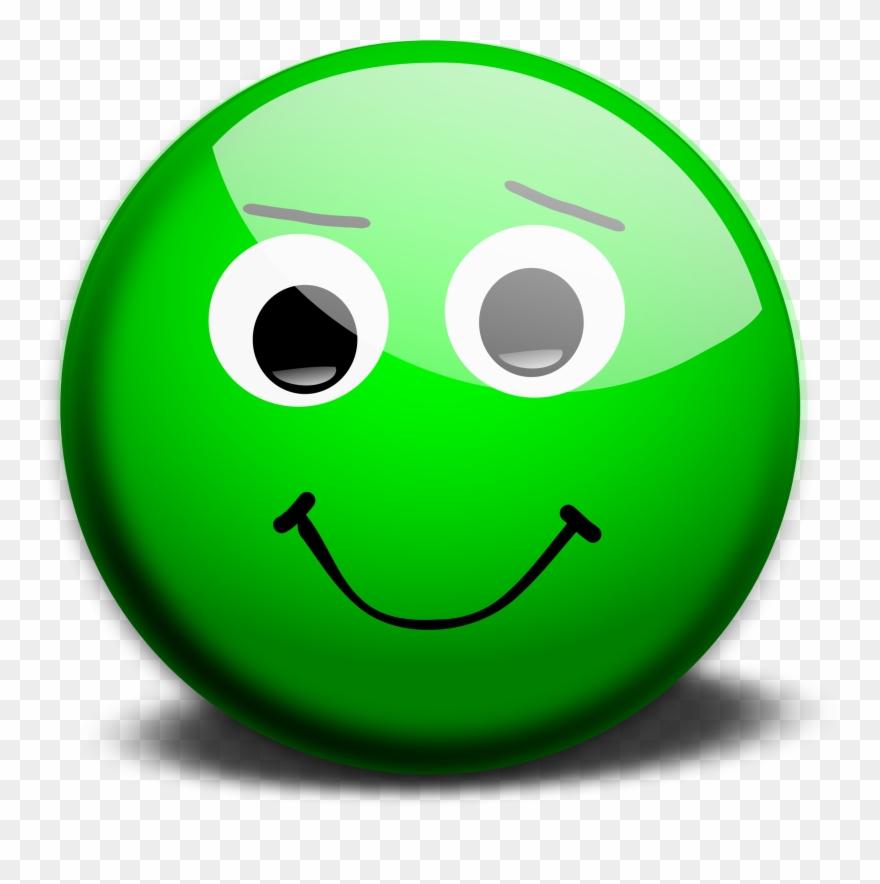 Green Happy Face Emoji Clipart (#108561).