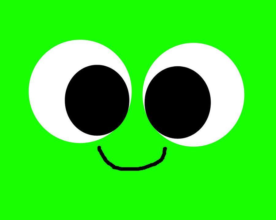 cute green smiley face clip art.