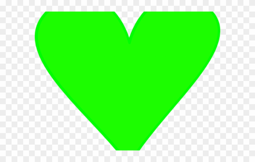 Heart Clipart Green.