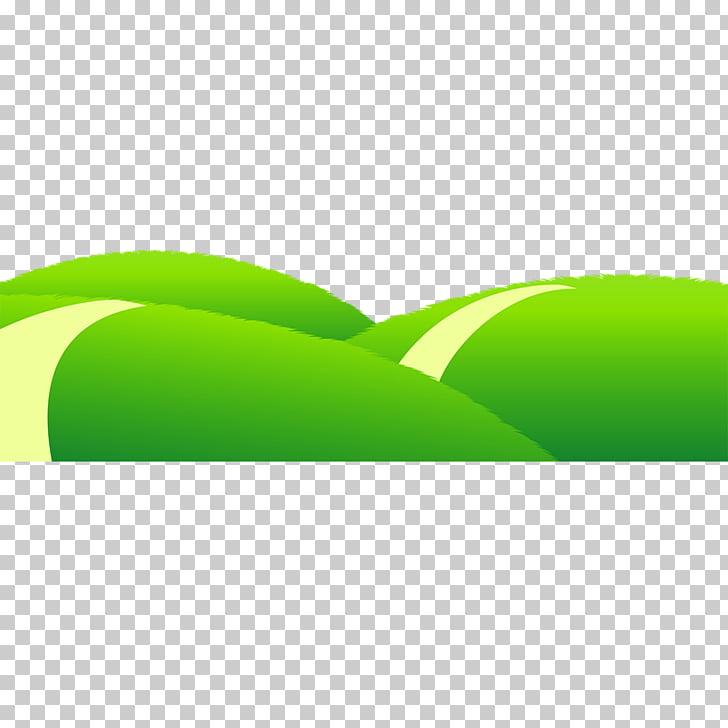 Cartoon Animation, Cartoon mountain meadow, three green.