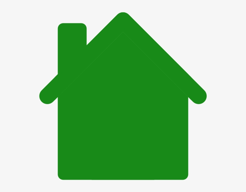 Green House Outline PNG Image.