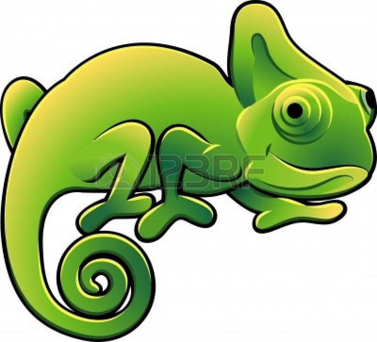 Cute Iguana Clipart.