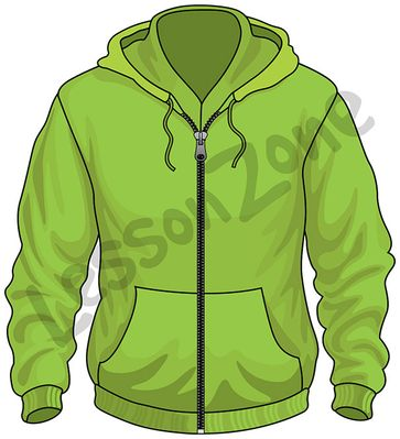 Green jacket clipart.