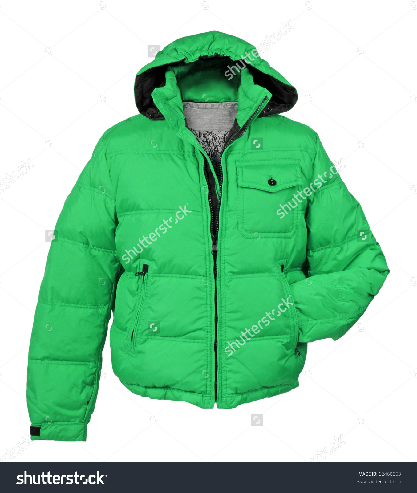 Green Jacket Stock Photo 62460553.