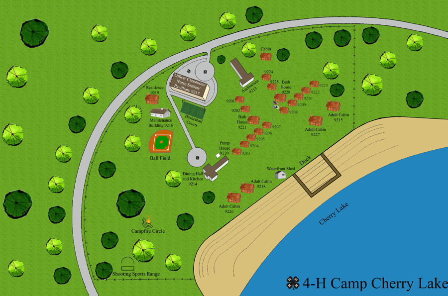 Camp Cherry Lake Site Map ».