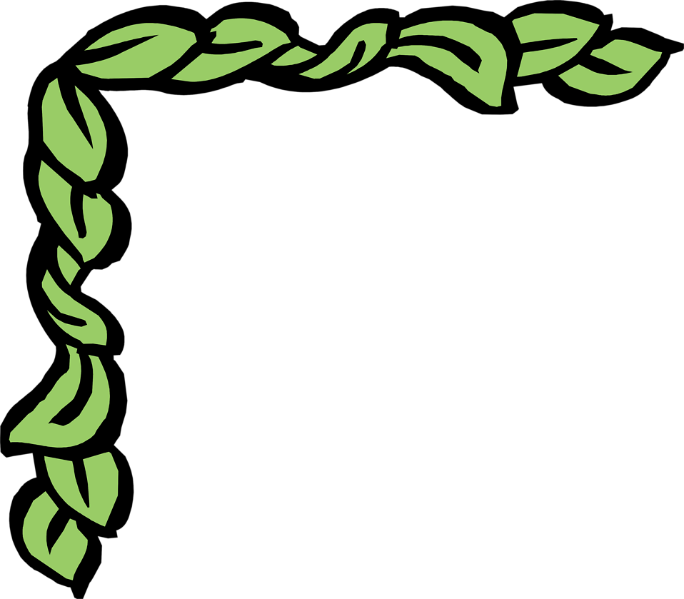 Green Leaf Border Clipart on Green Spiral Symbol
