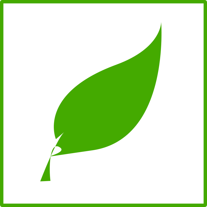 Free Clipart: Eco green leaf icon.