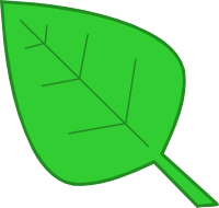 Green leaves clip art.