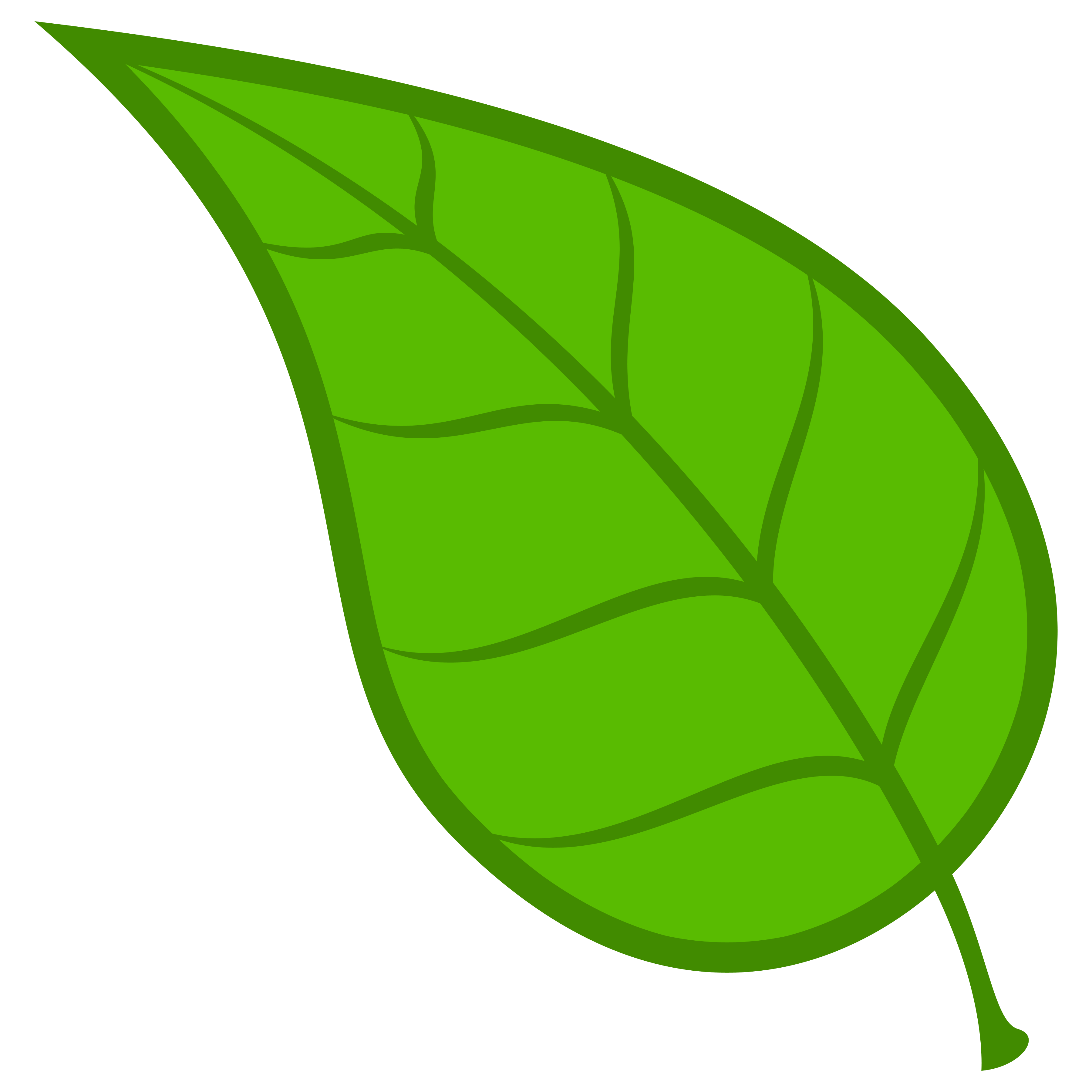 Green leaf clipart #17