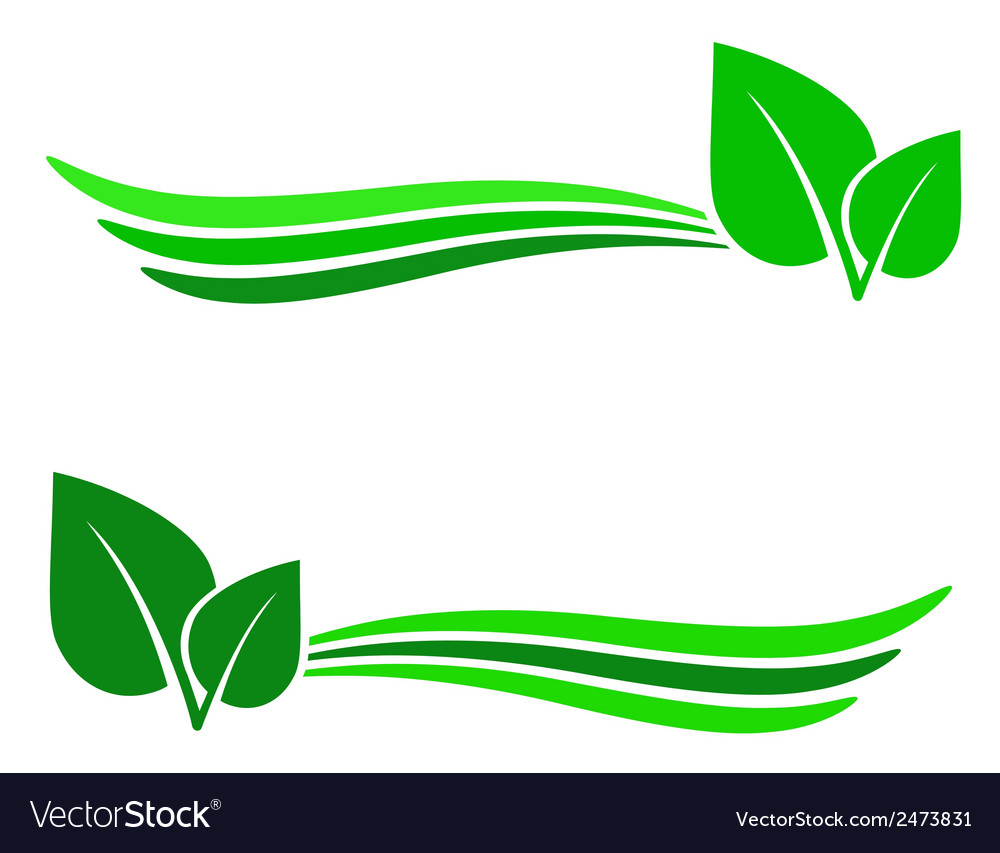 Abstract background with green leaf.