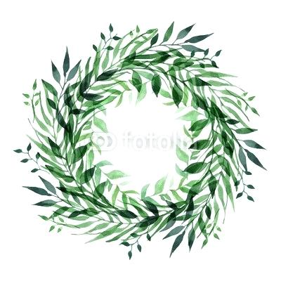 green leaf wreath.