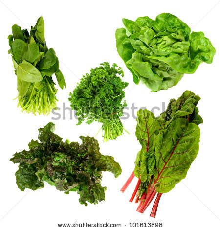 Green Leafy Vegetables Stock Images, Royalty.