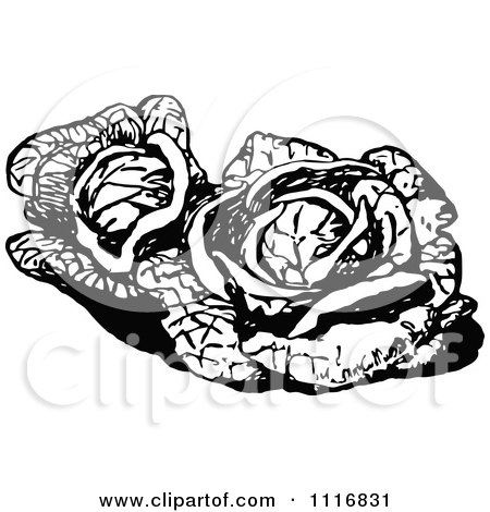 Clipart Retro Vintage Black And White Vegetables Text With Produce.
