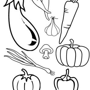 Coloring Pages Of Leafy Vegetables.