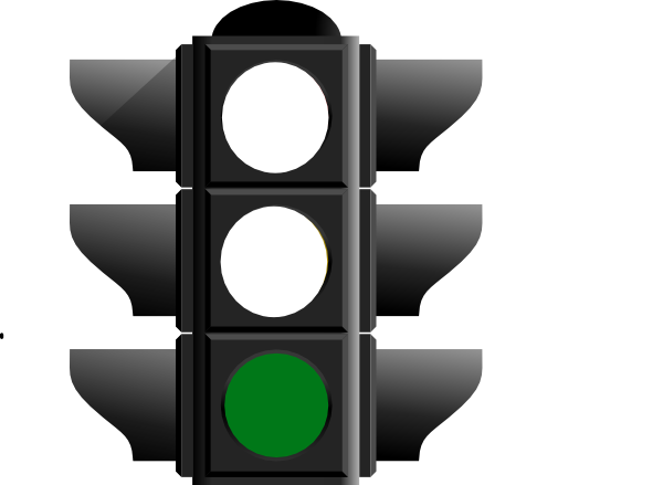 Green light clip art.
