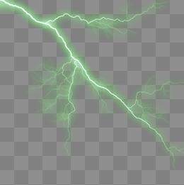 Green Lightning PNG Images.